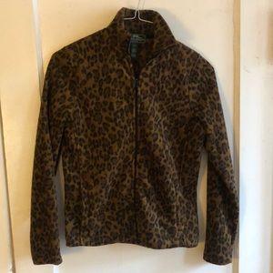 Ralph Lauren Active cheetah leopard fleece jacket